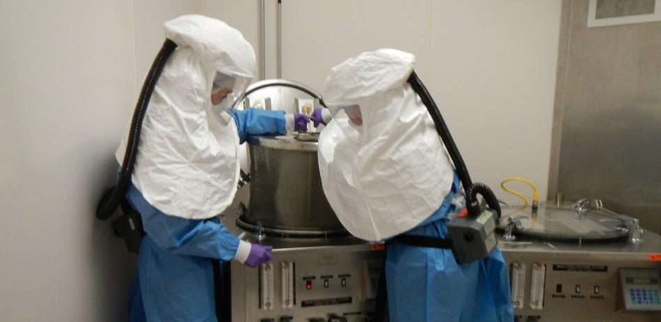 Animal aerosol exposure system in the Biosafety Level 3